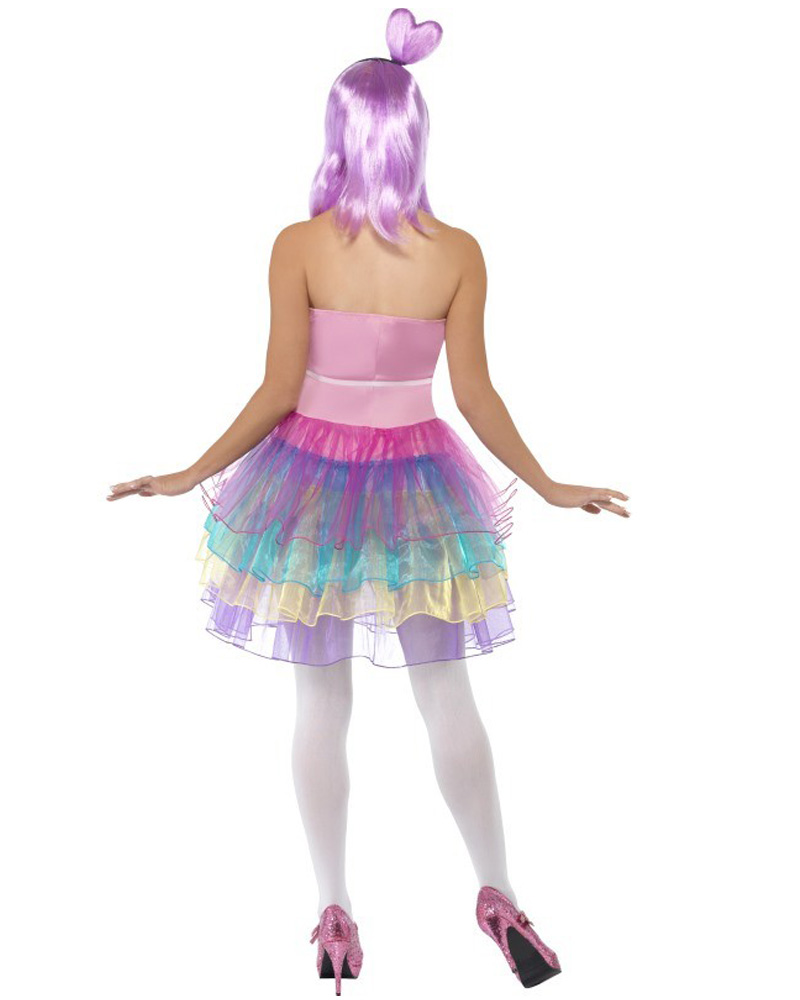 CL196 Candy Queen Katy Perry Celebrity Costume Music Modern Pop Star Outfit