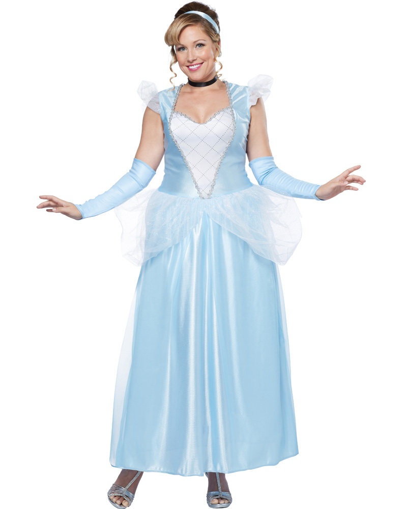 CL28 Classic Cinderella Adult Storybook Fairytale Fancy Dress Up Party Costume