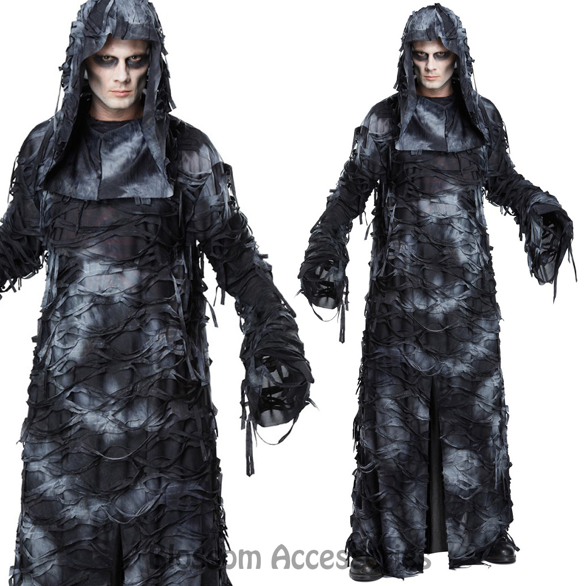 ca103 deluxe ghoul ghost costume halloween scary evil spirit robe