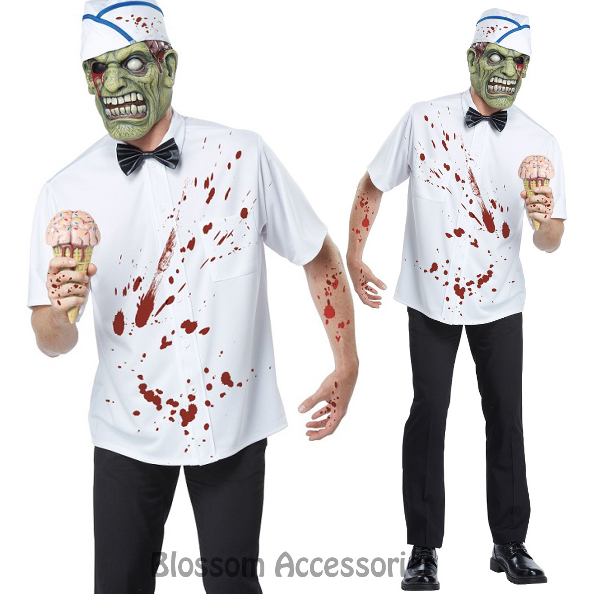ca107 i scream man adult costume halloween zombie killer monster