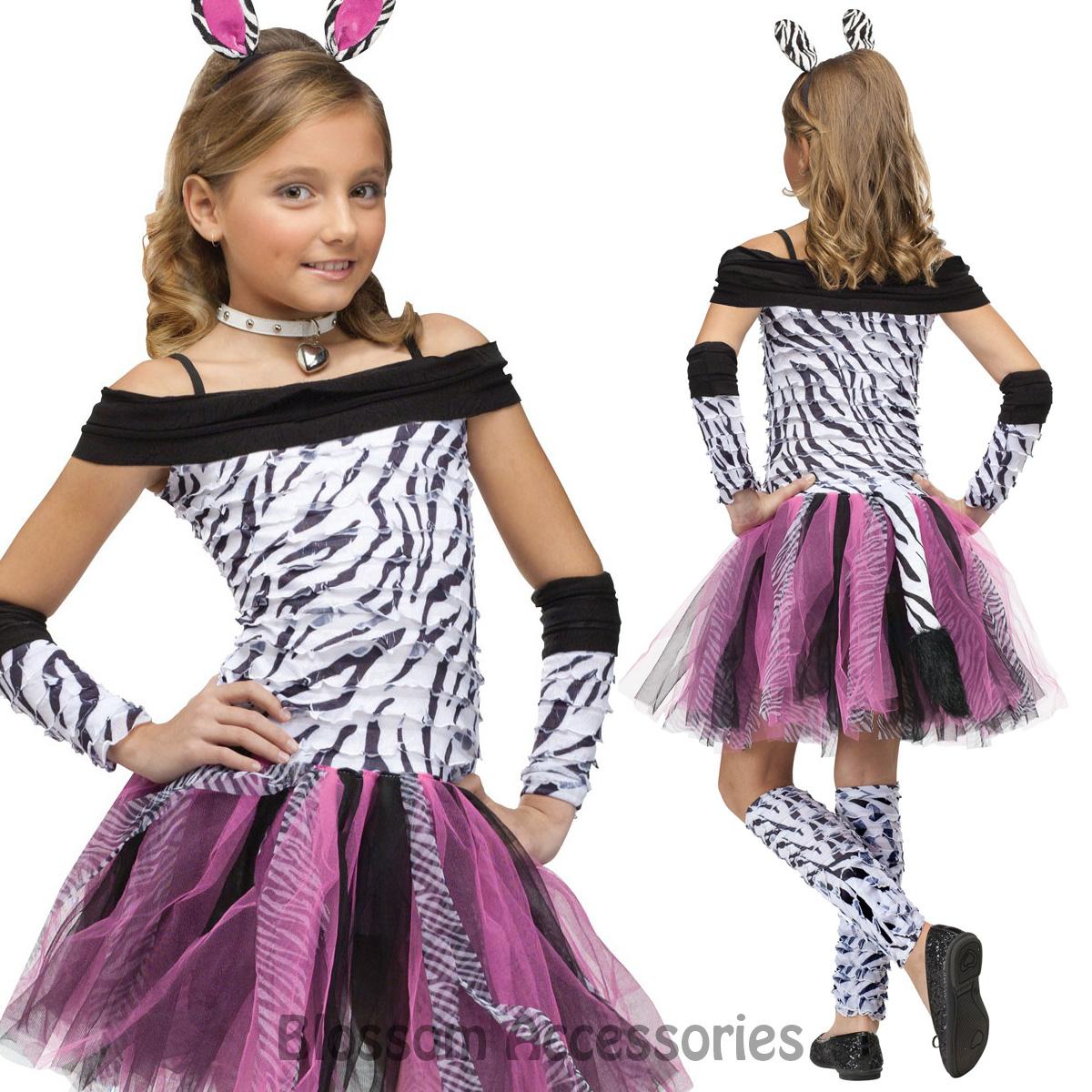 Ck632 Zebra Animal Costume Girls Teen Fancy Dress Kids Book Week