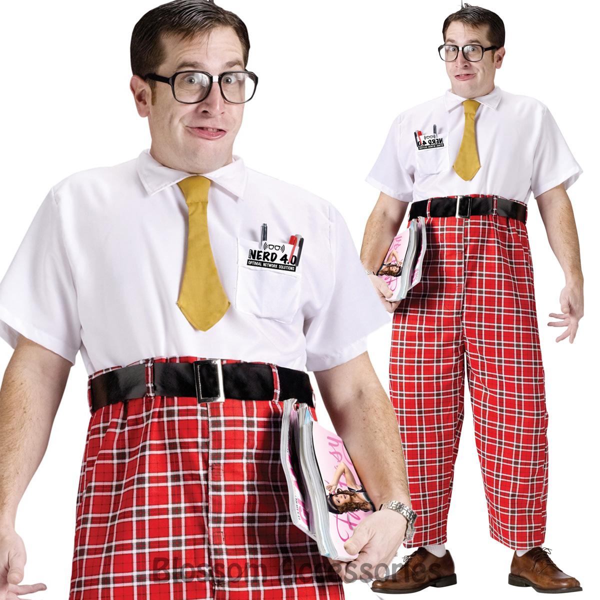 Cl771 50s Nerd Geek School Uniform Funny College Retro
