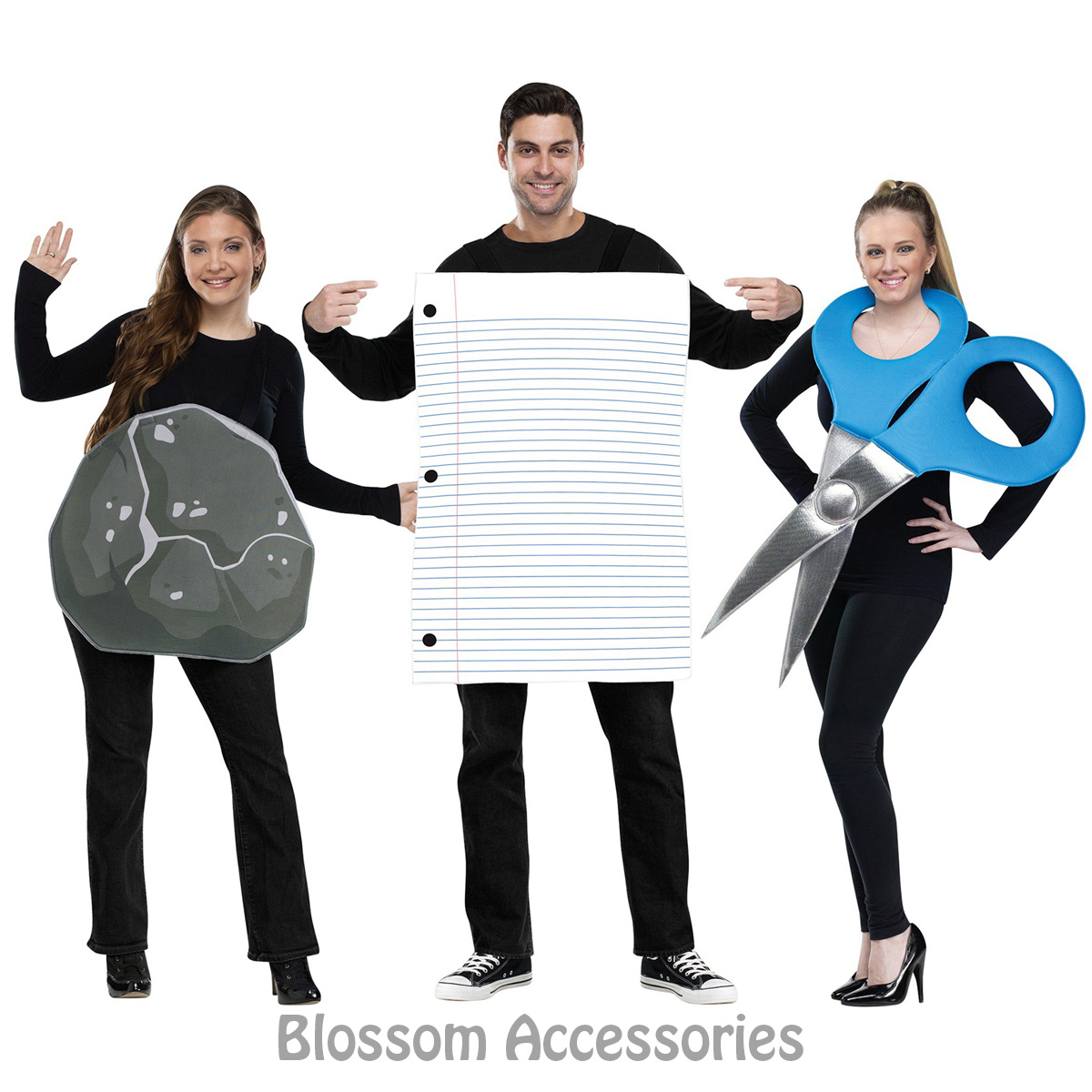 cl767 rock paper scissors couple group costume game pair funny