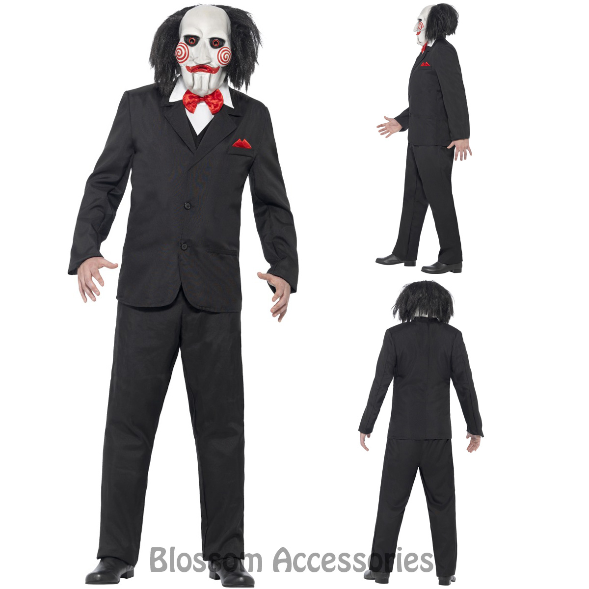 Image is loading CL923-Saw-Jigsaw-Creepy-Costume-Mens-Halloween-Movie-  sc 1 st  eBay : movie halloween costumes men  - Germanpascual.Com