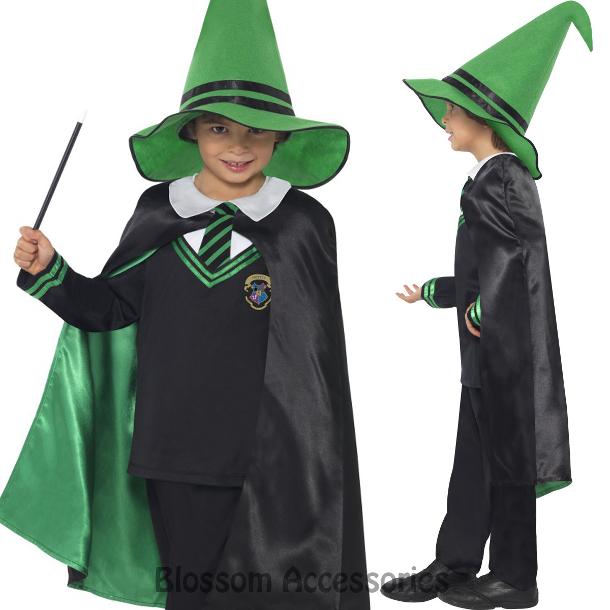 Image is loading CK782-Wizard-Costume-Boys-Girls-Harry-Potter-Fancy-  sc 1 st  eBay : cool wizard costumes  - Germanpascual.Com