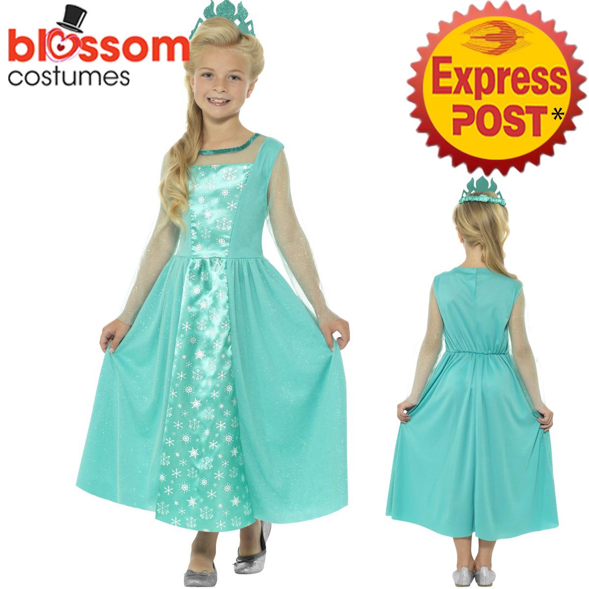CK1023 Girls Ice Princess Frozen Snow Costume Book Week Dress Up ...