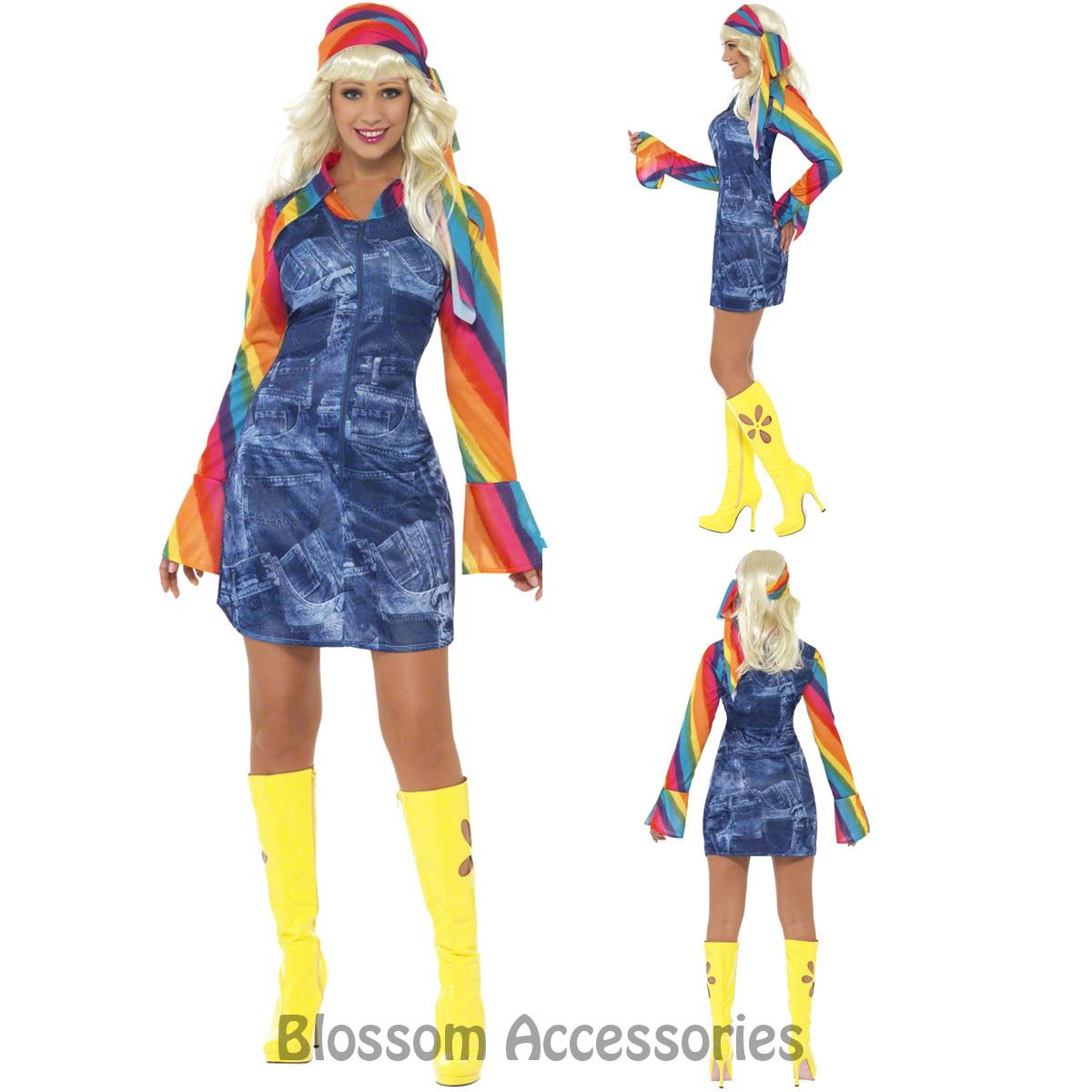 Cl464 Groovier Dancer 60s 70s Retro Hippie Dancing Hippy Disco