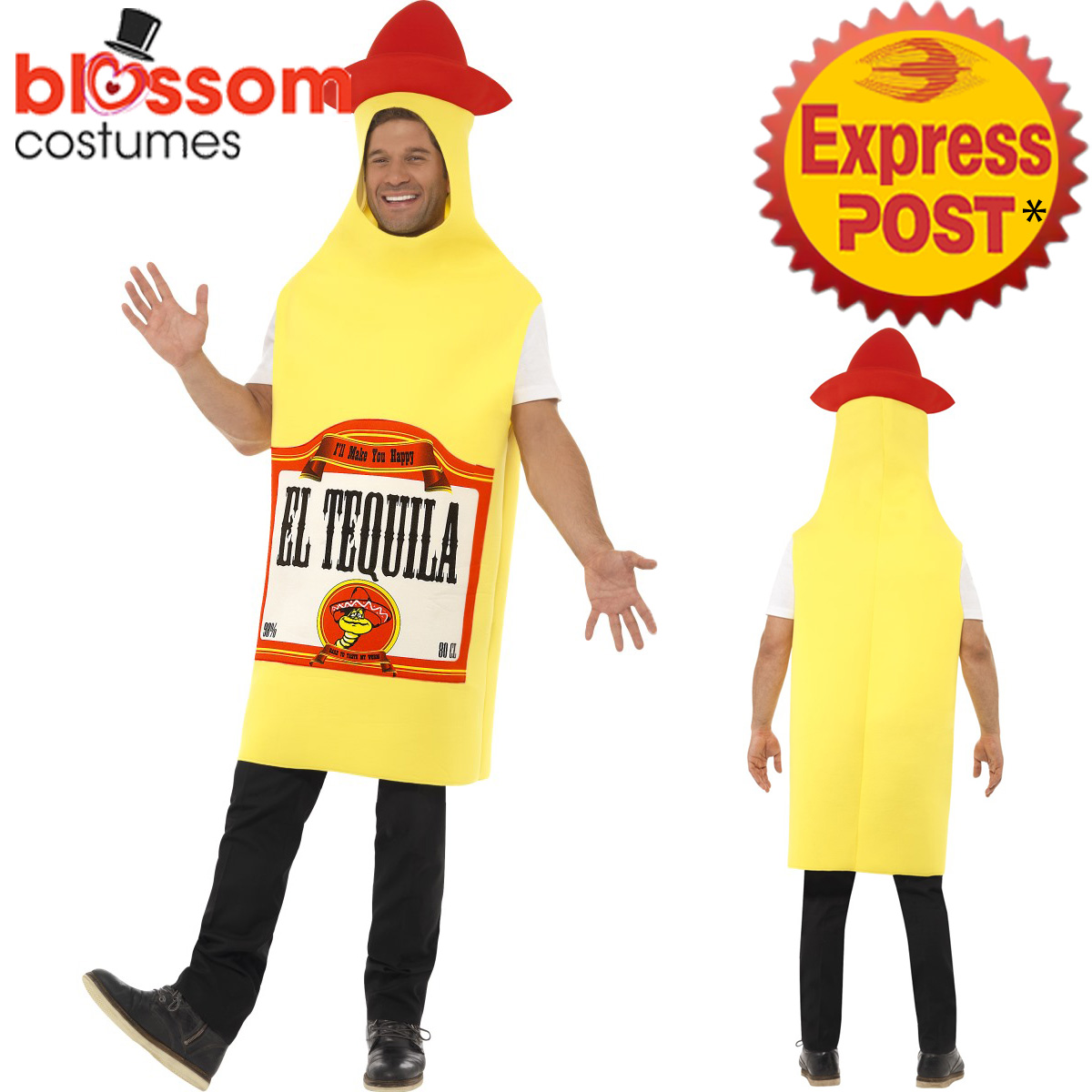 CA187-Tequila-Bottle-Mens-Unisex-Stag-Night-Mexican-Mexico-Dress-Costume-Funny