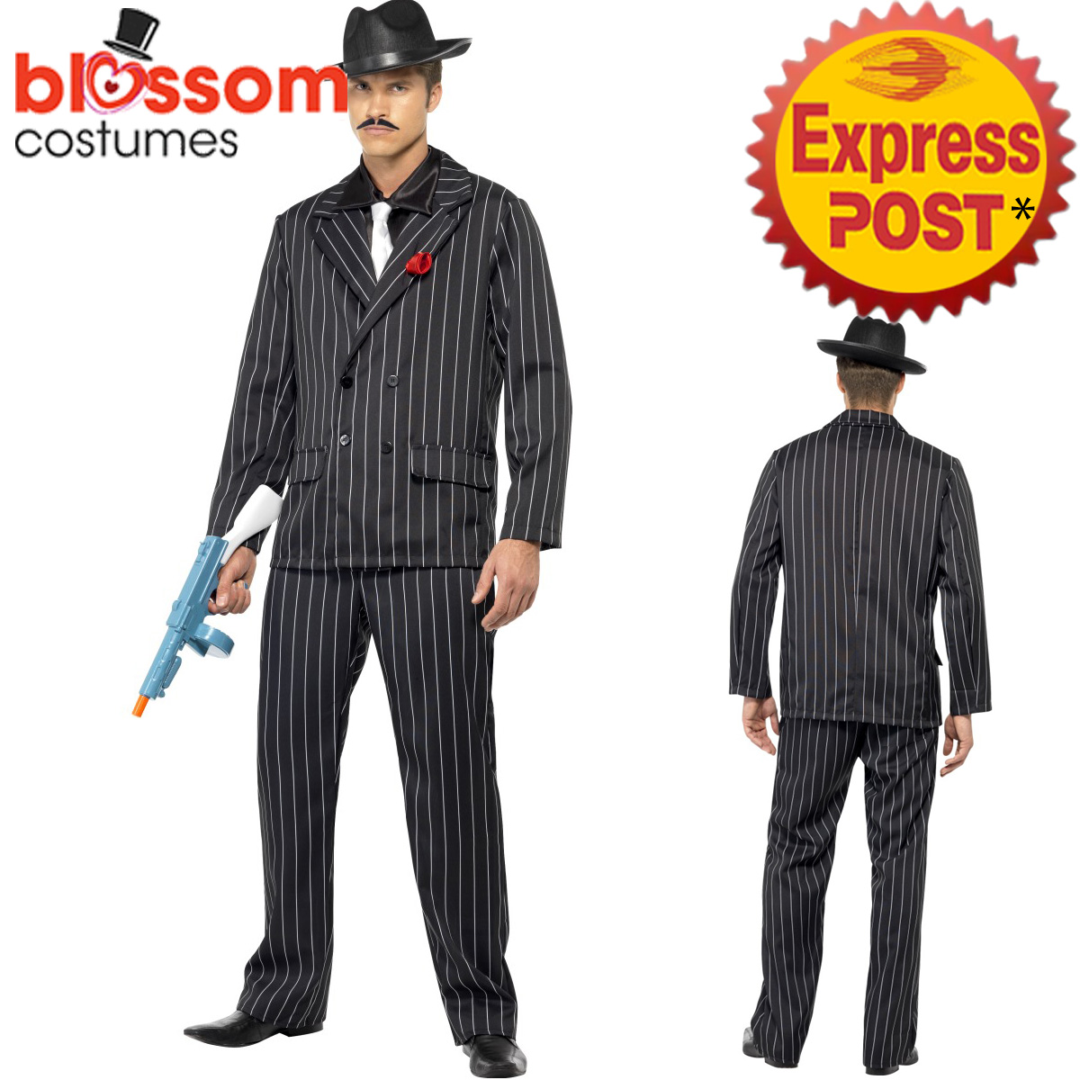 ca396 zoot suit gangster 1920s mens pinstripes gatsby 20s. Black Bedroom Furniture Sets. Home Design Ideas