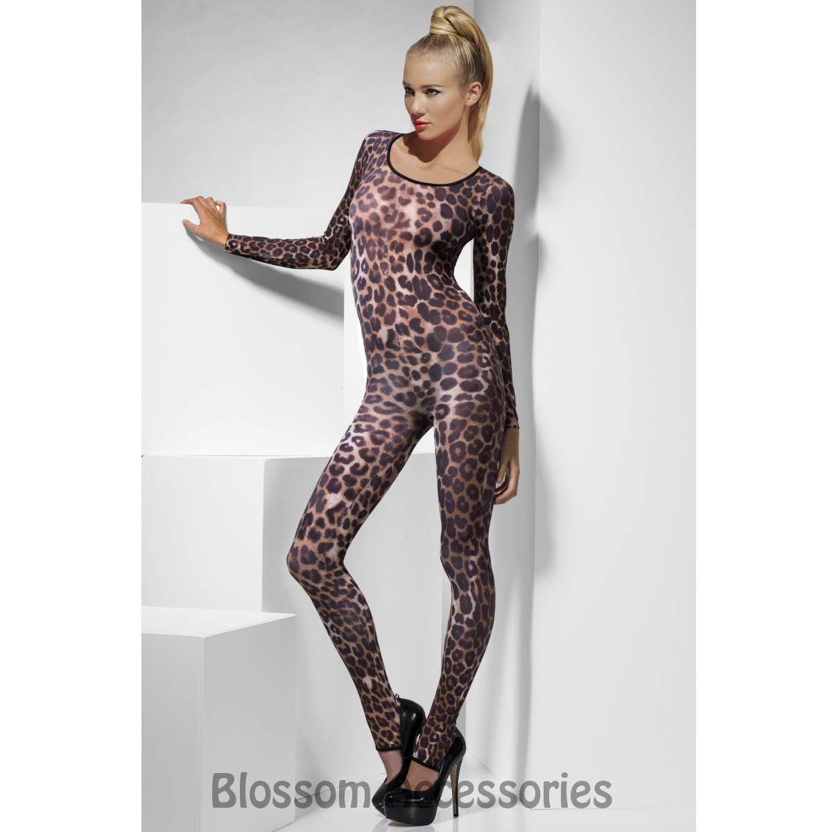 Image is loading CL733-Ladies-Cheetah-Brown-Bodysuit-Animal-Leopard-Cat-  sc 1 st  eBay : cheetah costume accessories  - Germanpascual.Com