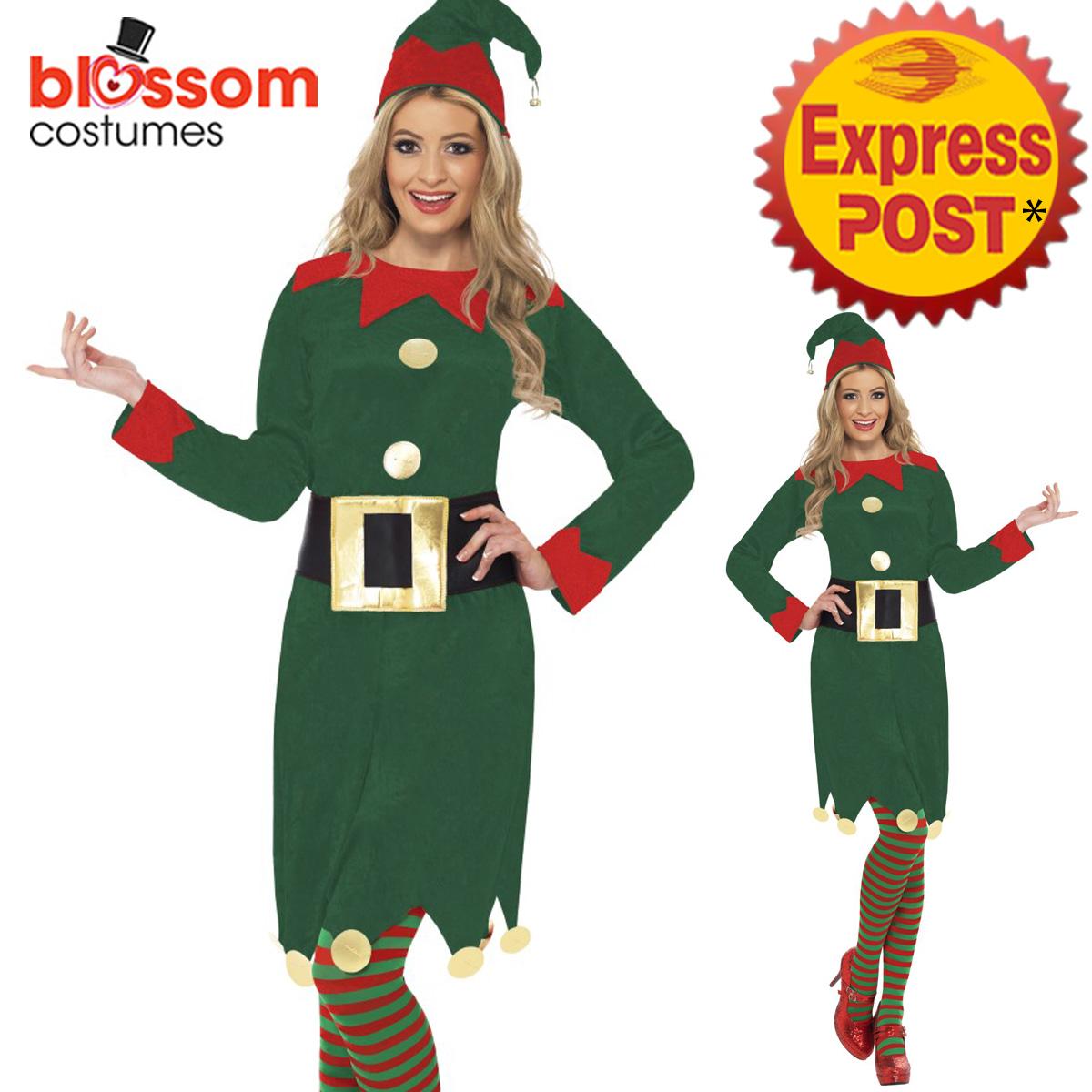 image is loading ca124 ladies christmas elf costume santa helper xmas - Christmas Dress Up