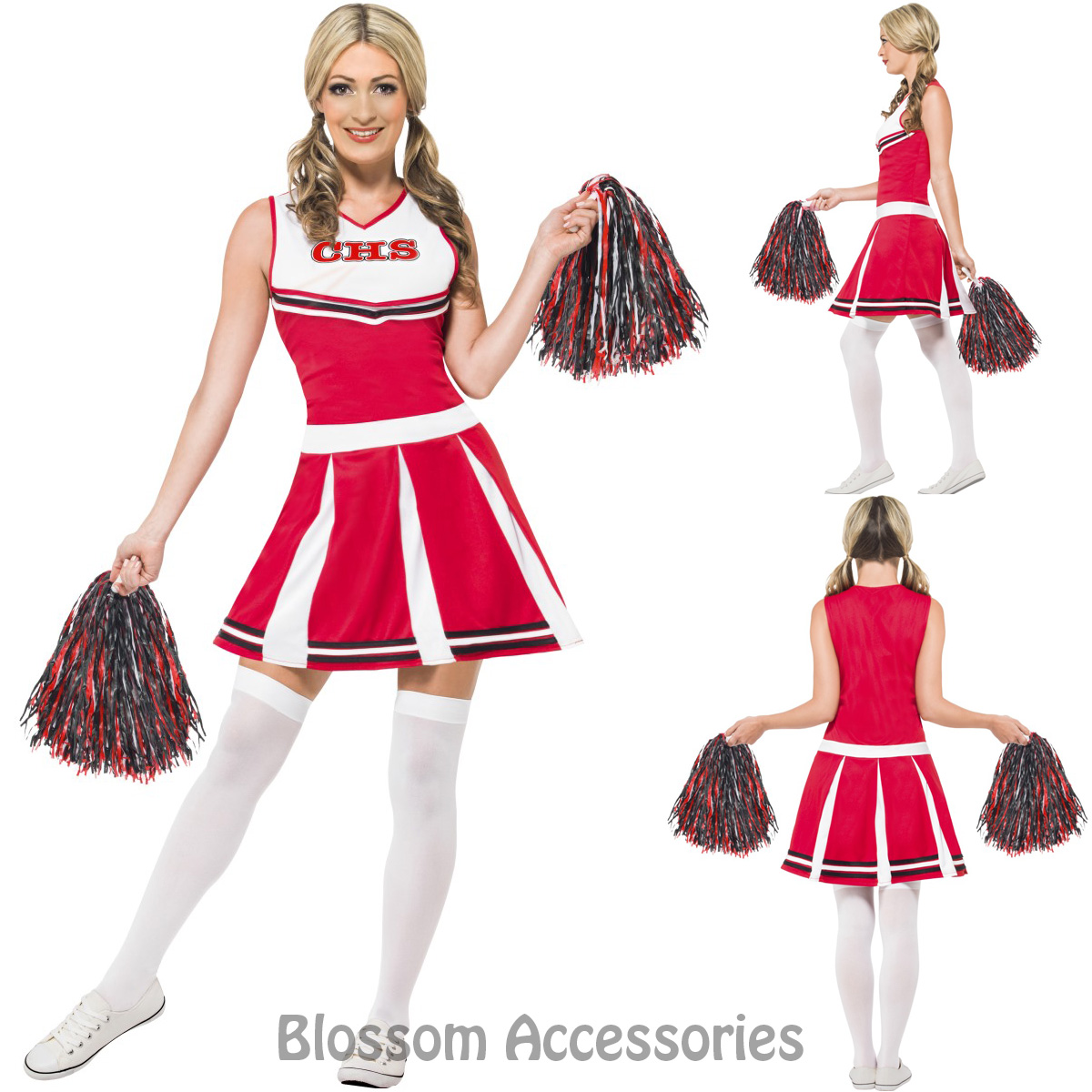 Image is loading CL722-Cheerleader-Dress-High-School-Musical-Fancy-Dress-  sc 1 st  eBay : glee halloween costume  - Germanpascual.Com