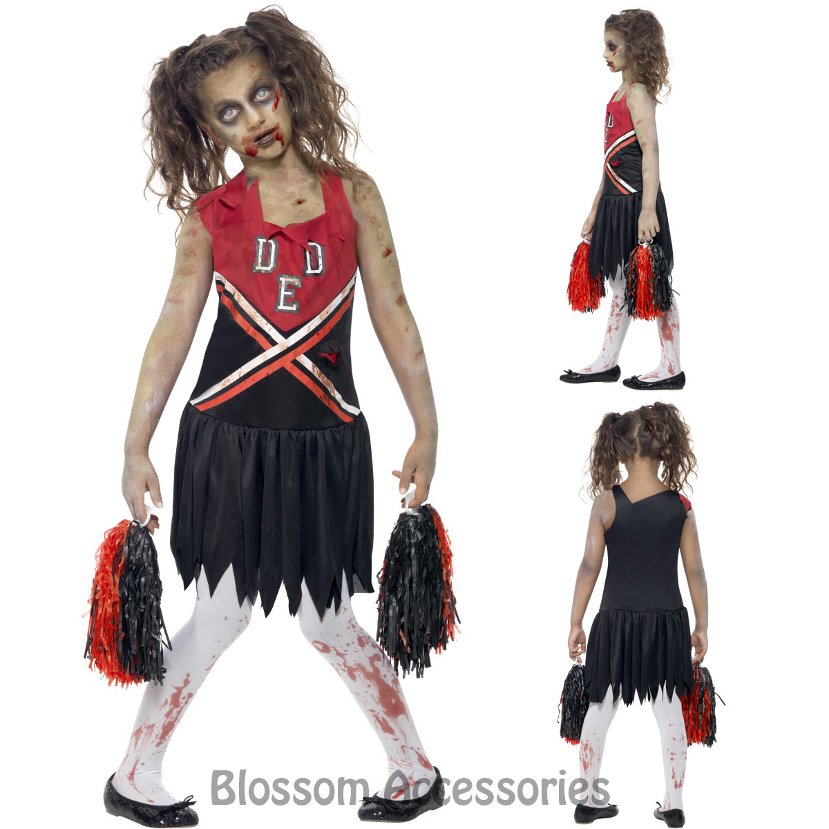 image is loading ck793 zombie cheerleader sports girls school halloween dress