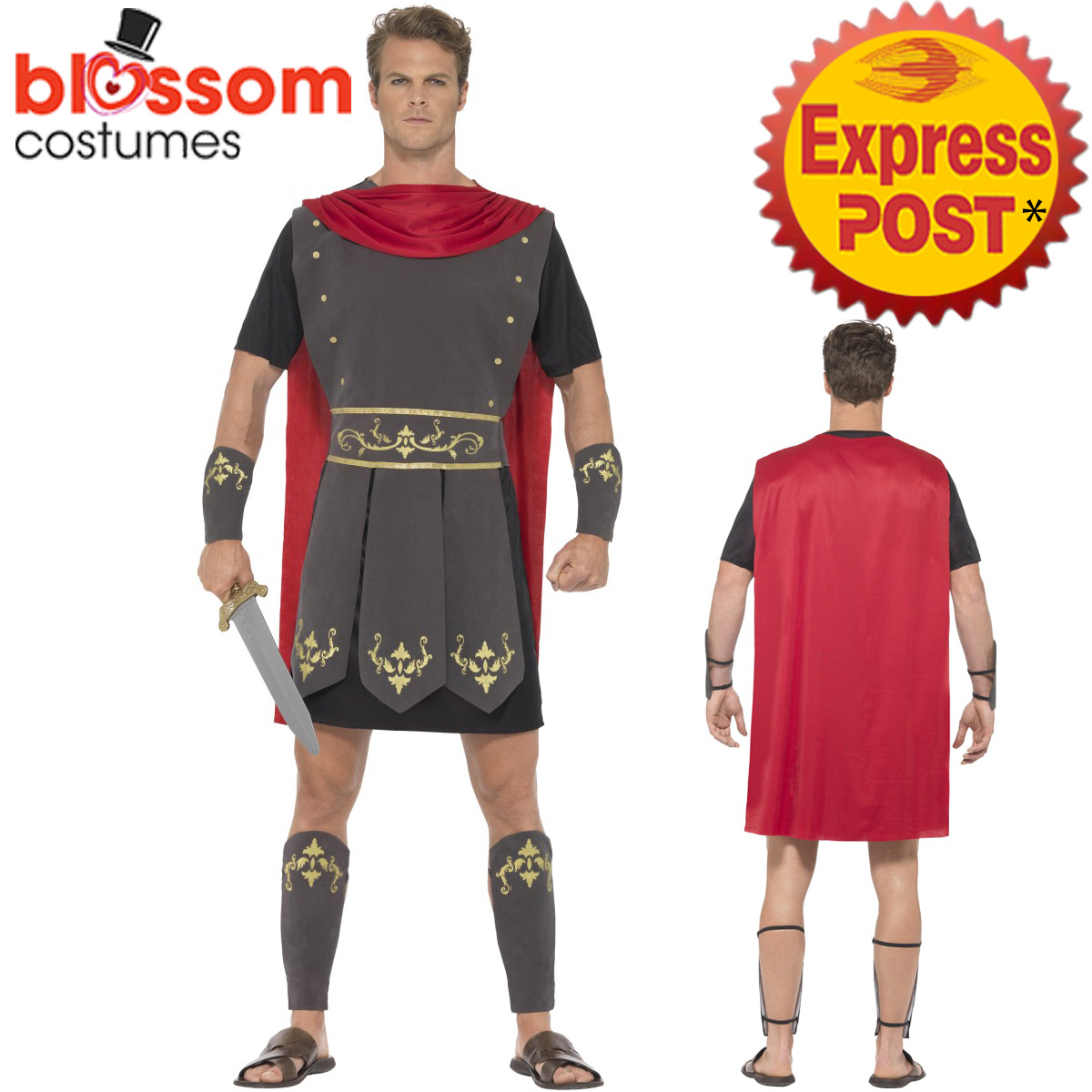 CA170-Roman-Gladiator-Warrior-Hero-Soldier-Greek-Mens-Fancy-Dress-Costume-Outfit