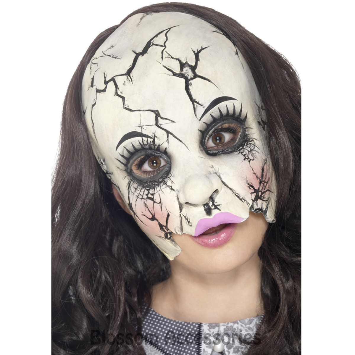 a938 damaged broken doll adult chinless costume halloween horror