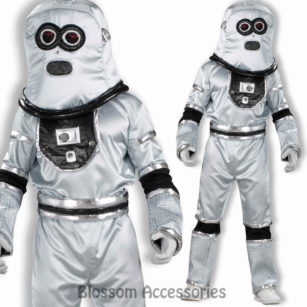 cl827 robot scifi silver space futuristic fancy dress