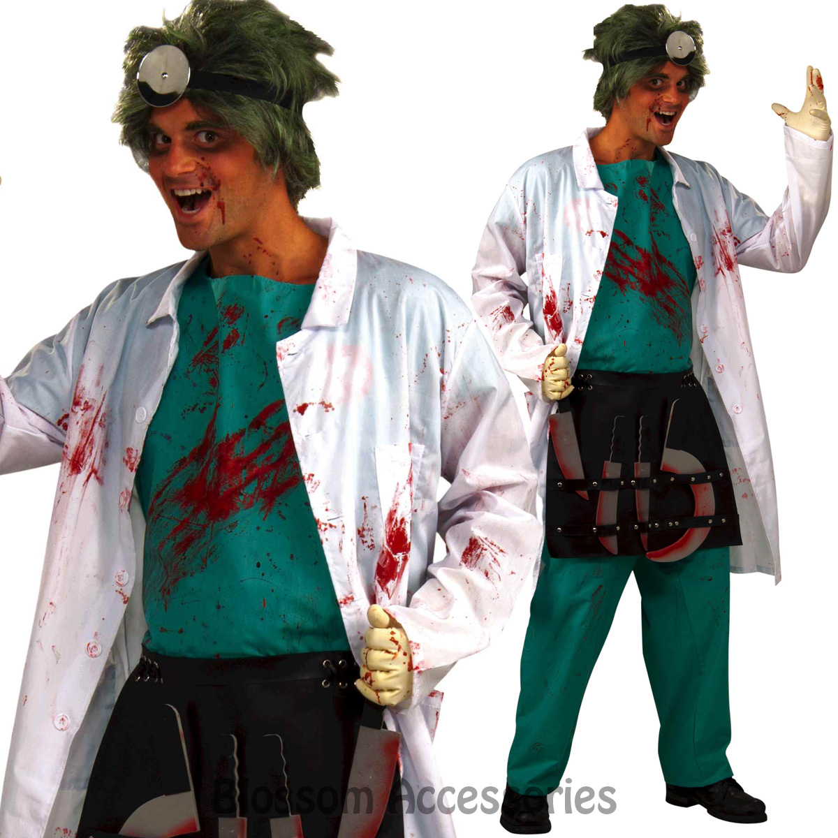 Image is loading CL847-Demented-Lab-Surgeon-Doctor-Zombie-Mens-Horror-  sc 1 st  eBay & CL847 Demented Lab Surgeon Doctor Zombie Mens Horror Hospital ...