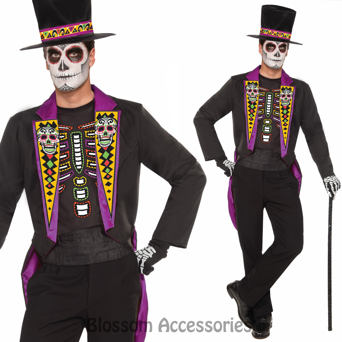 ca39 mens day of the dead formal mexican skeleton spanish