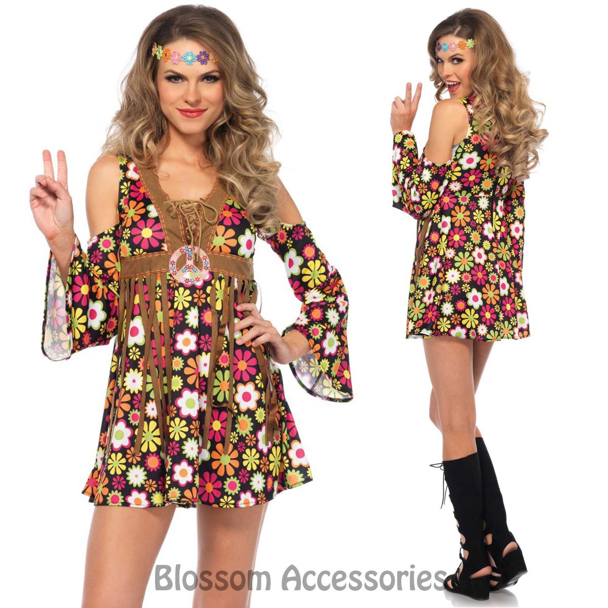 CA79 Starflower Hippie 1960s Disco Hippy 70s Fancy Dress ...