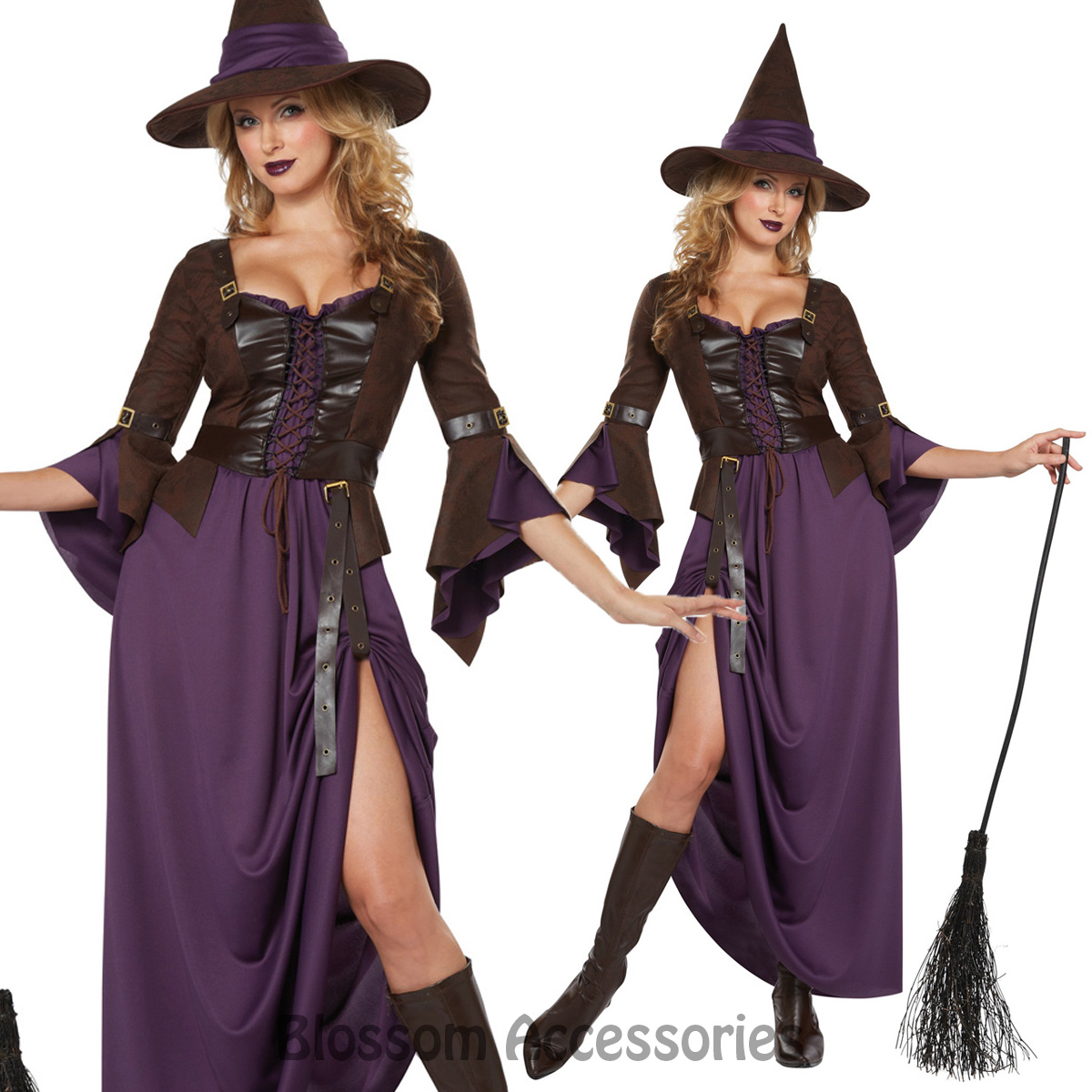 CL706-Salem-Witch-Halloween-Gothic-Dark-Fancy-Long-Dress-Up-Womens-Party-Costume