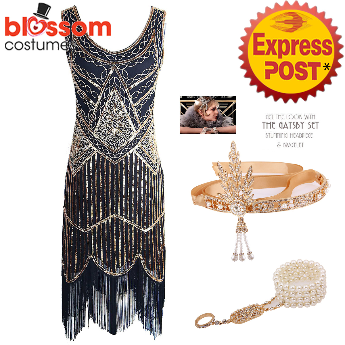 K298-Gold-Ladies-1920s-Roaring-20s-Flapper-Costume-Sequin-Gatsby-Outfit-Dress-Up