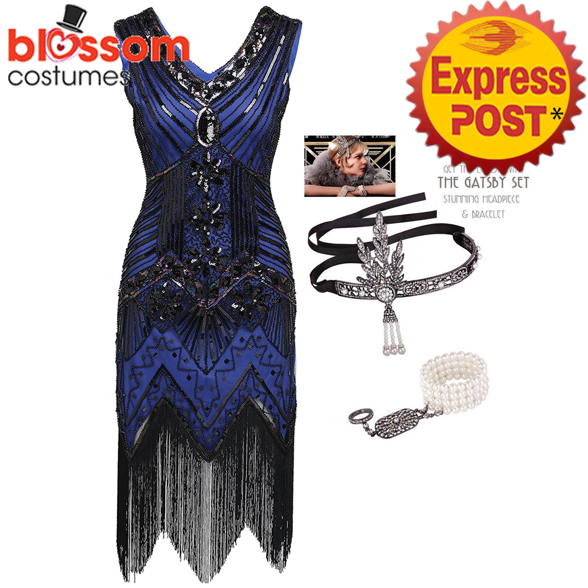 K225-Blue-Ladies-1920s-Roaring-20s-Flapper-Costume-Sequins-Outfit-Fancy-Dress-Up