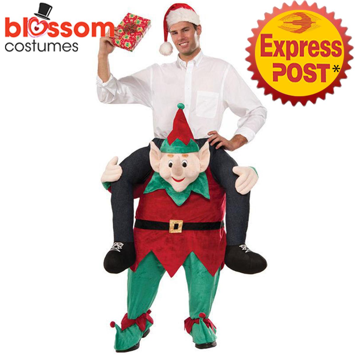 K363 Santa Elf Christmas Xmas Shoulder Carry On Piggy Back Ride Me ...