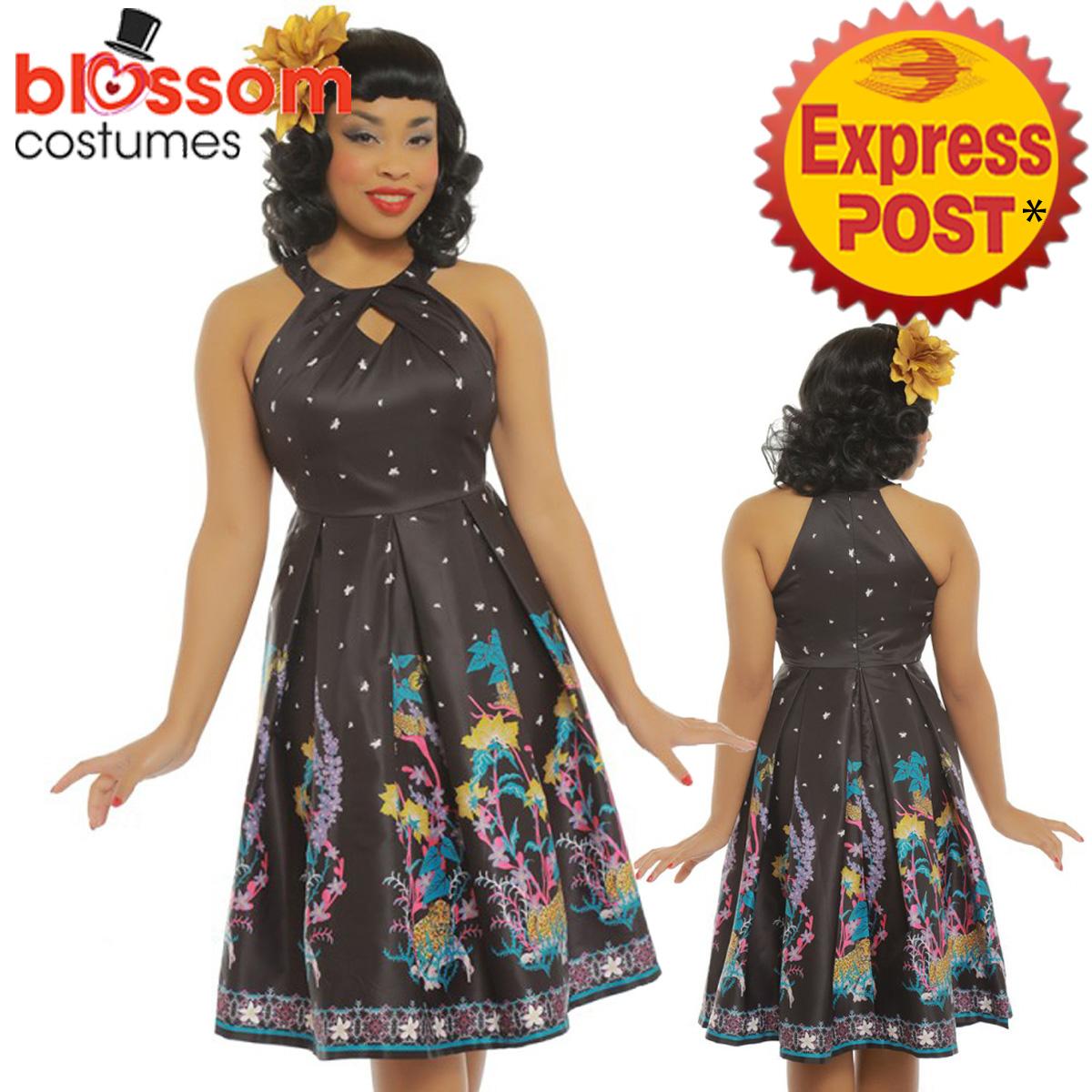 e791fd0b28f3 RKB55 Lindy Bop  Cheronda  Jaguar Print Swing Rockabilly 50s Swing Vintage  Dress 1 of 5Only 2 available ...