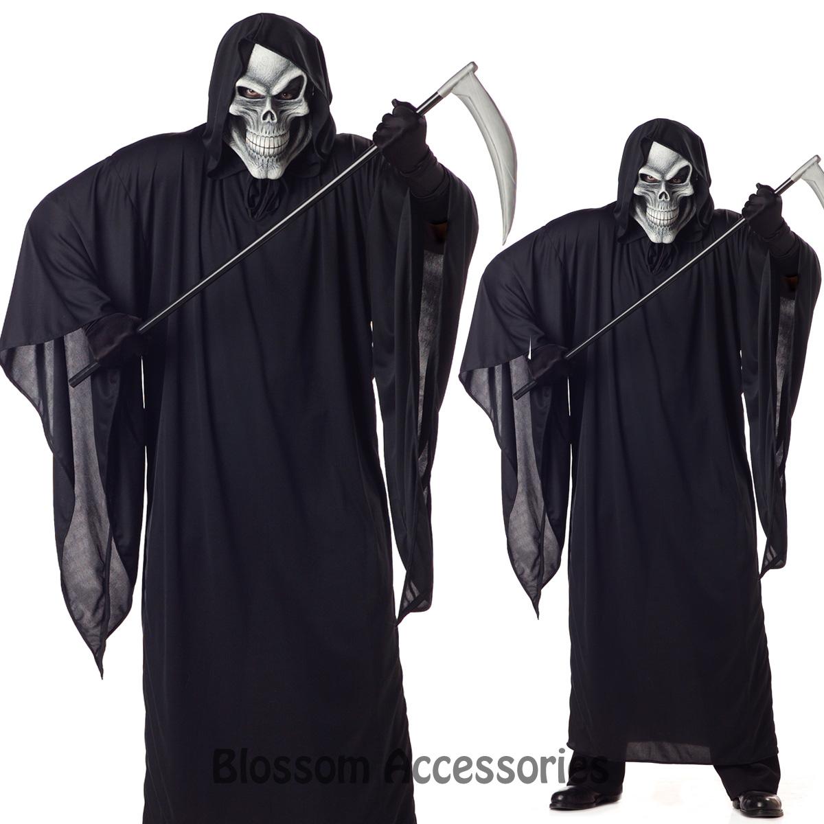 C617-Grim-Reaper-Scary-Horror-Robe-Halloween-Fancy-Dress-Mens-Costume