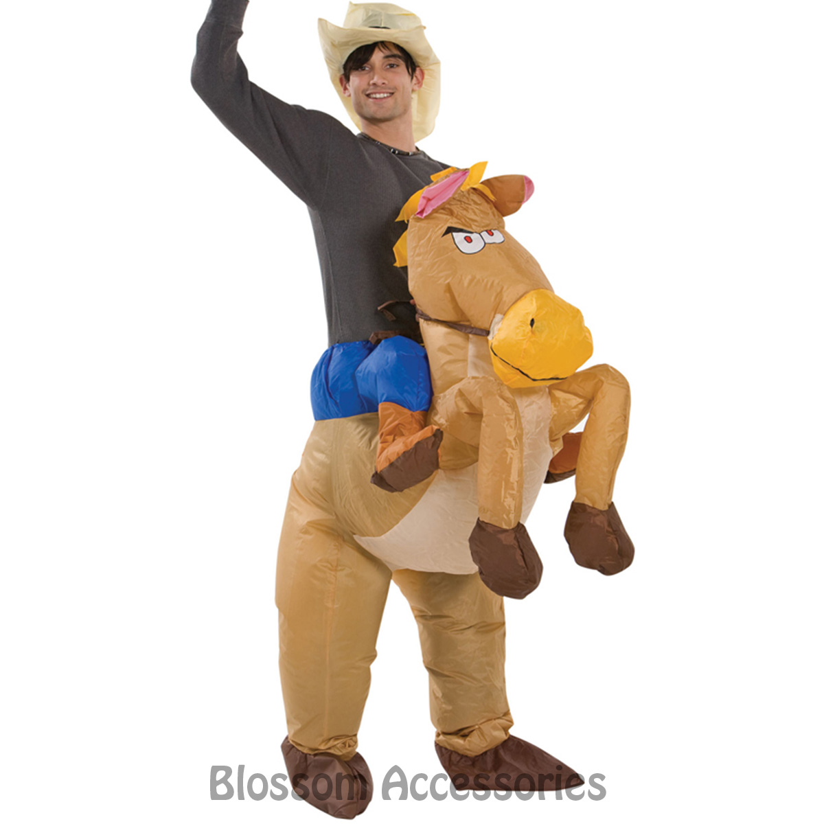Image is loading CL256-Airblown-Inflatable-Horse-Rider-Riding-Cowboy-Mens-  sc 1 st  eBay & CL256 Airblown Inflatable Horse Rider Riding Cowboy Mens Funny Adult ...