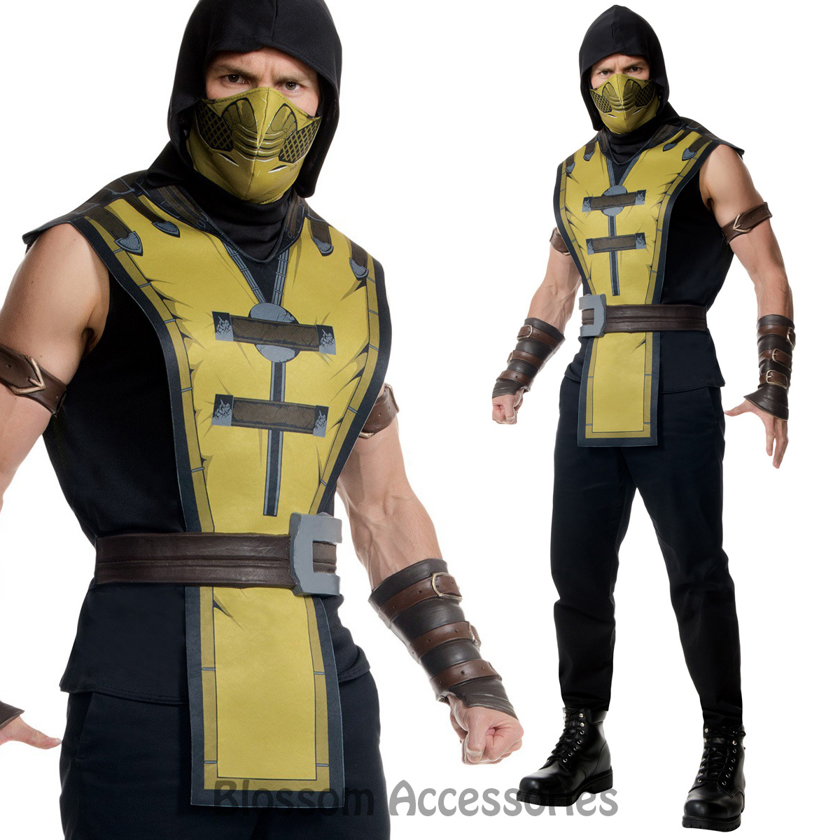image is loading cl895 mens mortal kombat x scorpion ninja halloween