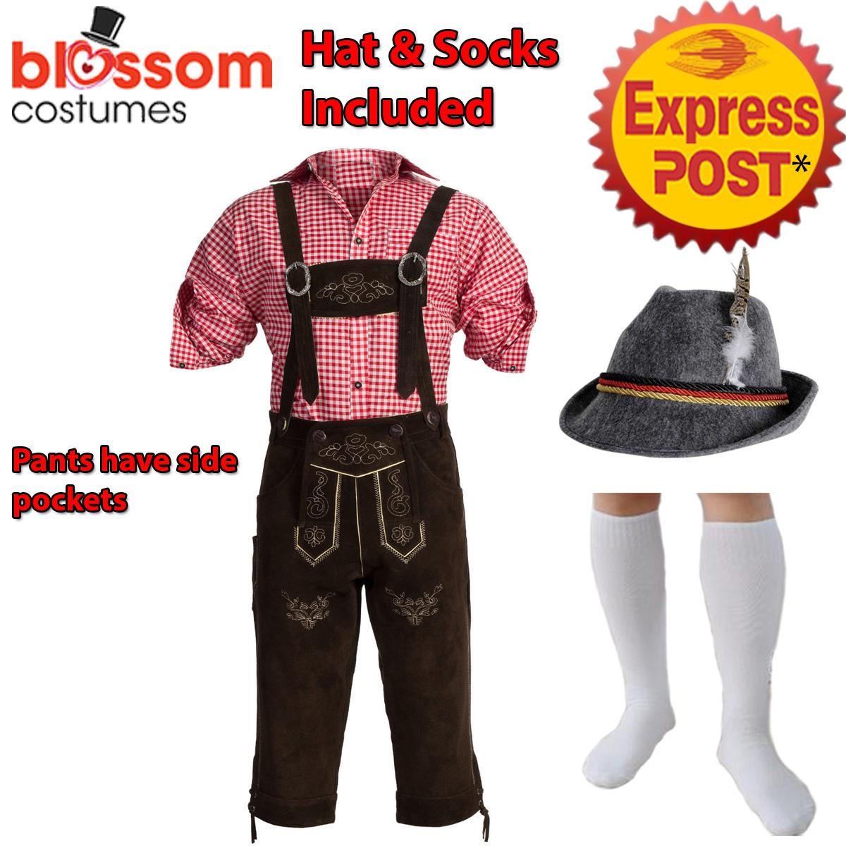 K407-Authentic-Bavarian-Dark-Brown-Suede-Lederhosen-Oktoberfest-Beer-Costume-Hat