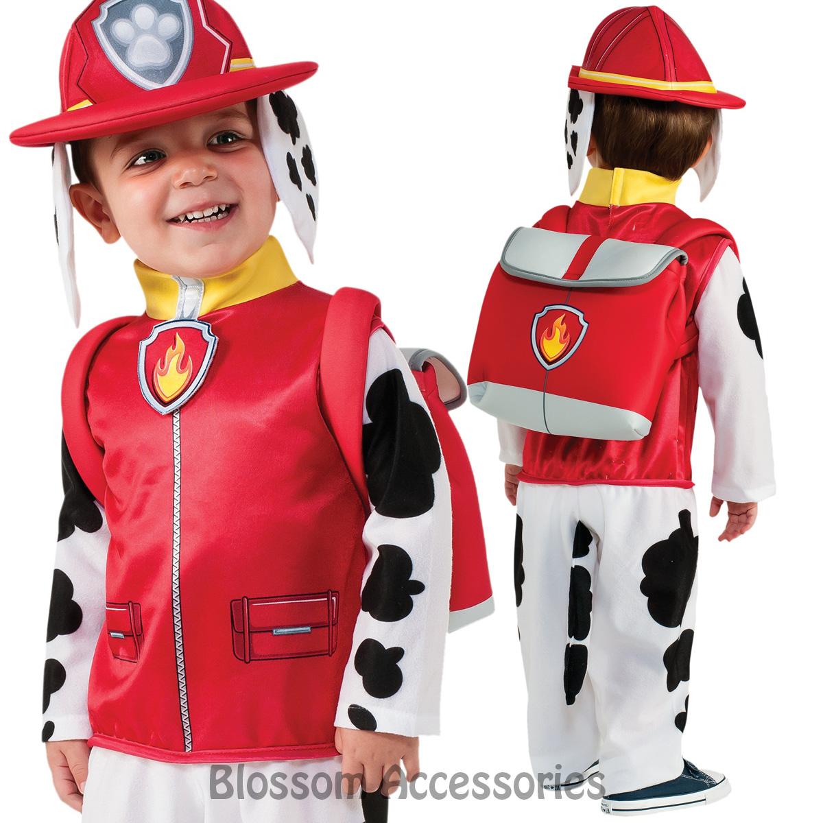 Ck789 Paw Patrol Boys Marshall Cartoon Fireman Fancy Dress Costume