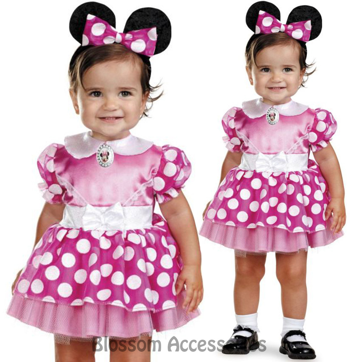 Image is loading CK501-Pink-Minnie-Mouse-Infant-Disney-Mini-Girls-  sc 1 st  eBay & CK501 Pink Minnie Mouse Infant Disney Mini Girls Birthday Fancy ...