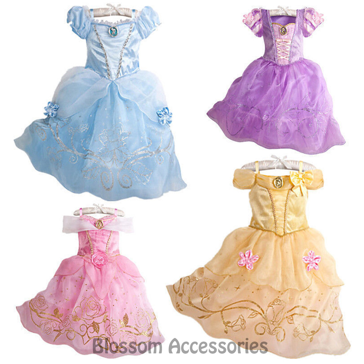 K202 Deluxe Girls Princess Costume Fairytale Dress Book Week Party ...