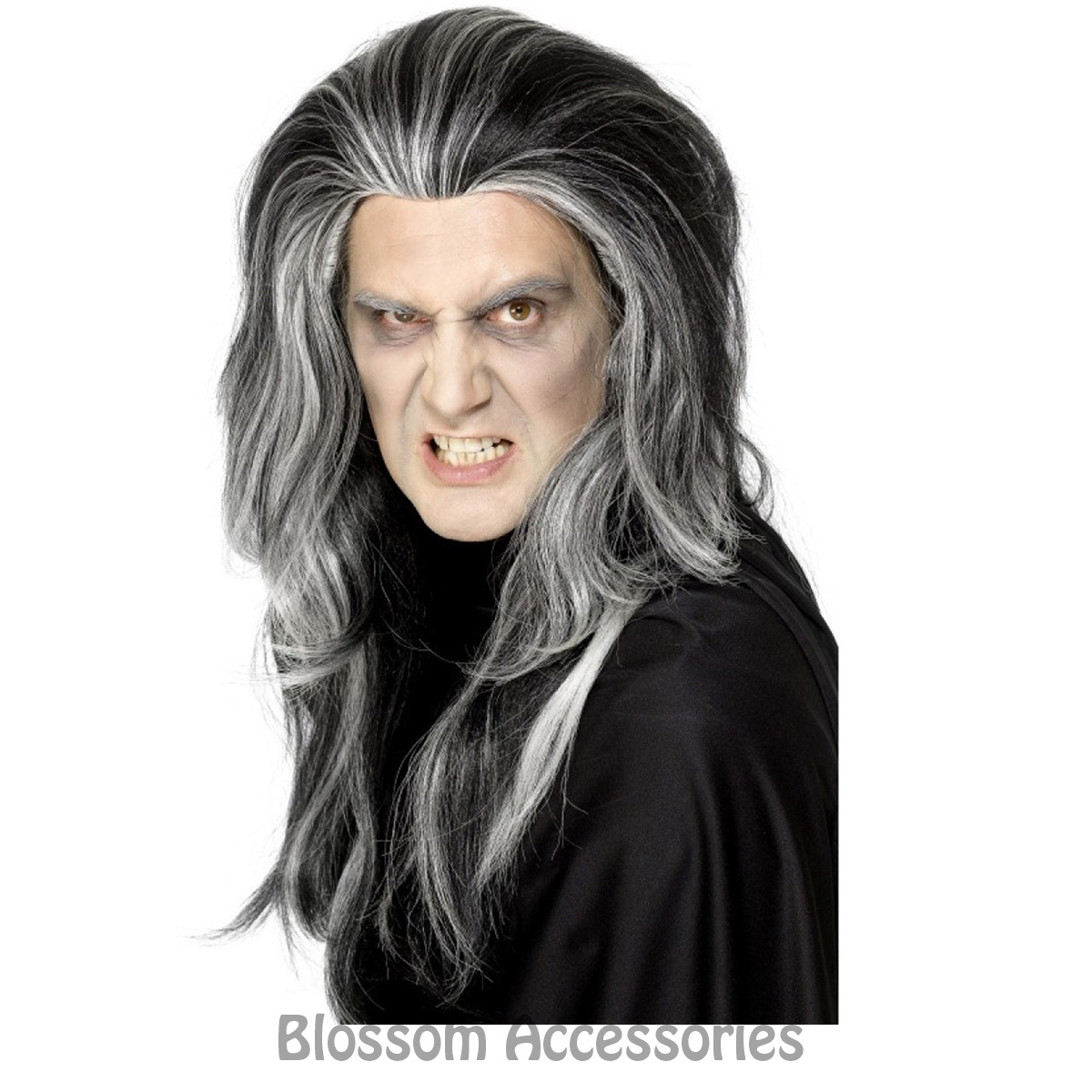 Image Is Loading W339 Vampire Gothic Dracula Halloween Mens Long Hair