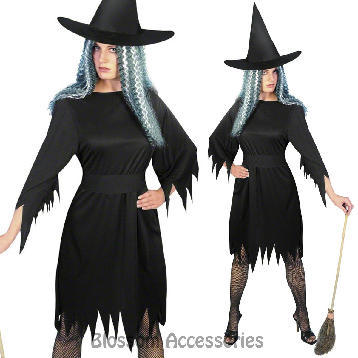 CL572 Womens Spooky Wicked Witch Gothic Halloween Horror