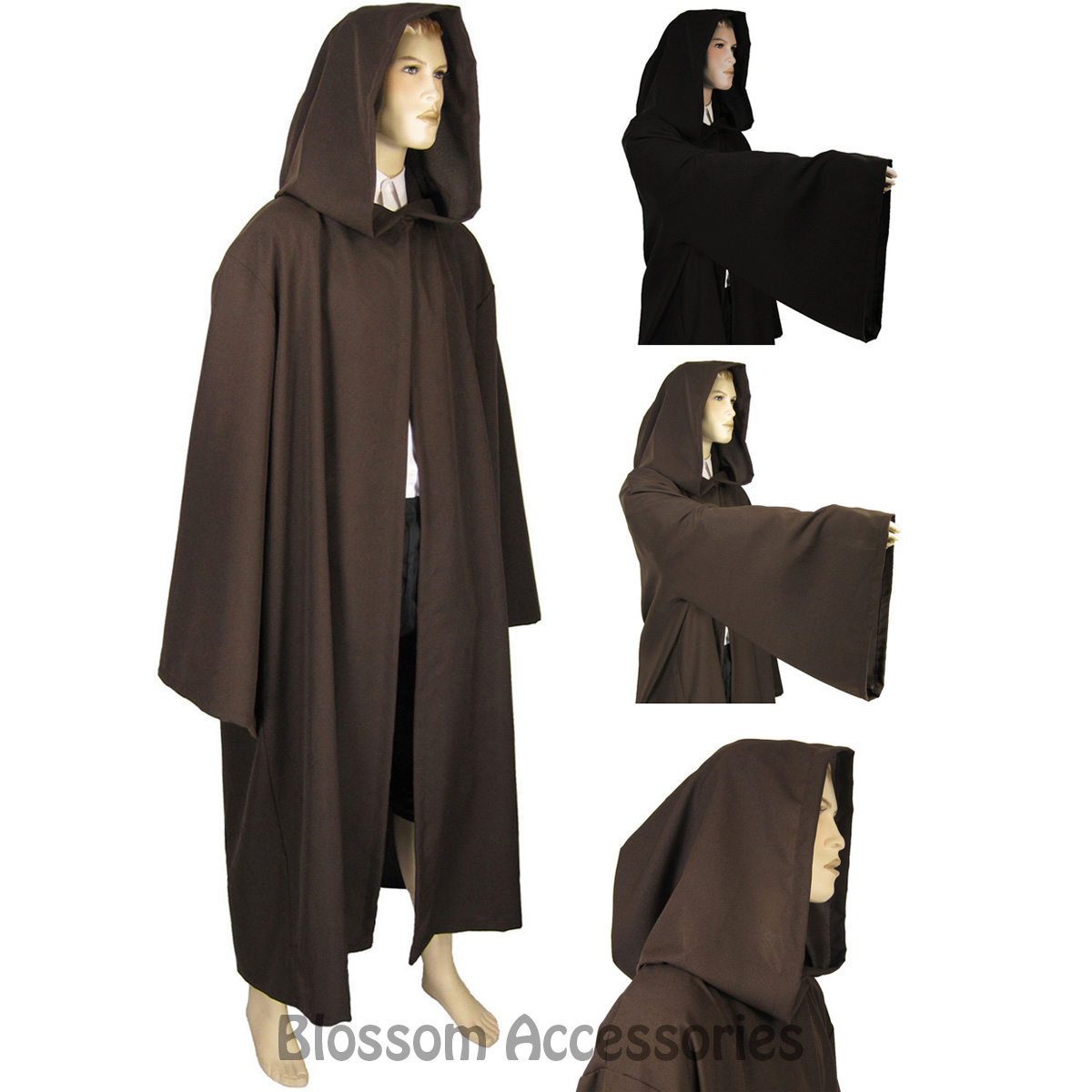 14663e6b0d Image is loading master wizard monk hooded robe costume jpg 1200x1200 Monk  robes with hoods