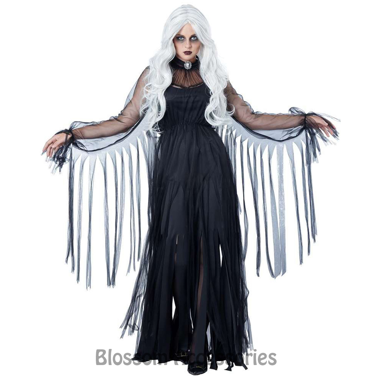 cl621 vengeful spirit halloween scary dark ghost fancy dress goth