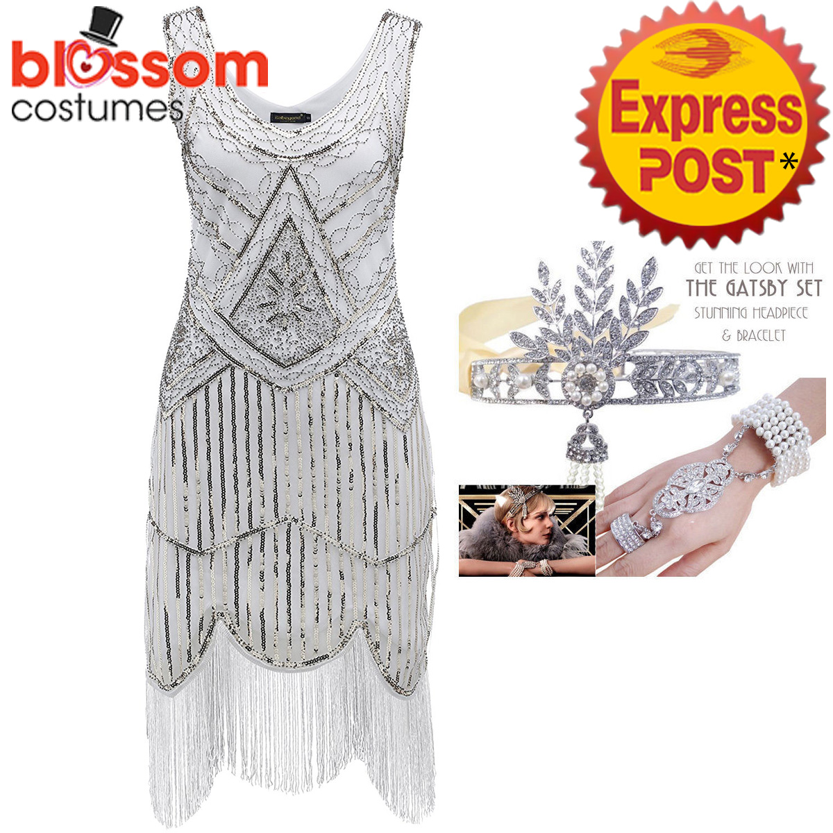 K298-White-Ladies-1920s-Roaring-20s-Flapper-Costume-Sequin-Gatsby-Outfit-Dress