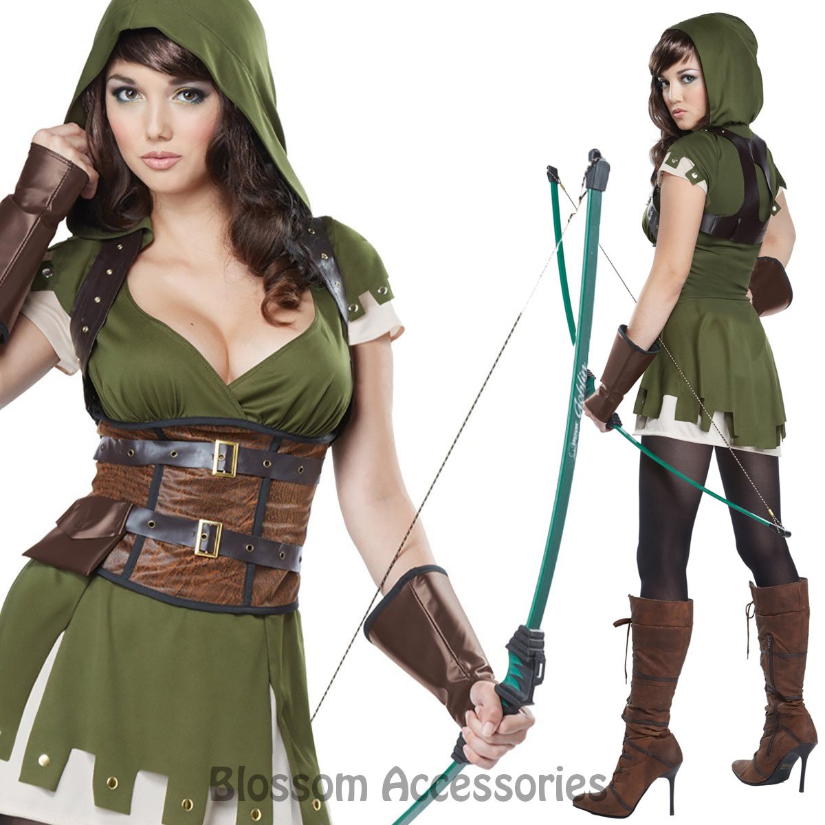 ca52 lady robin hood huntress warrior medieval isabel archer womens