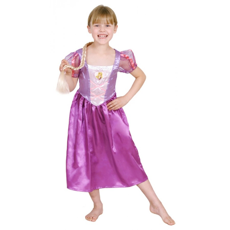 CK293 Licensed Disney Glitter Rapunzel Girl Kids Child Fancy