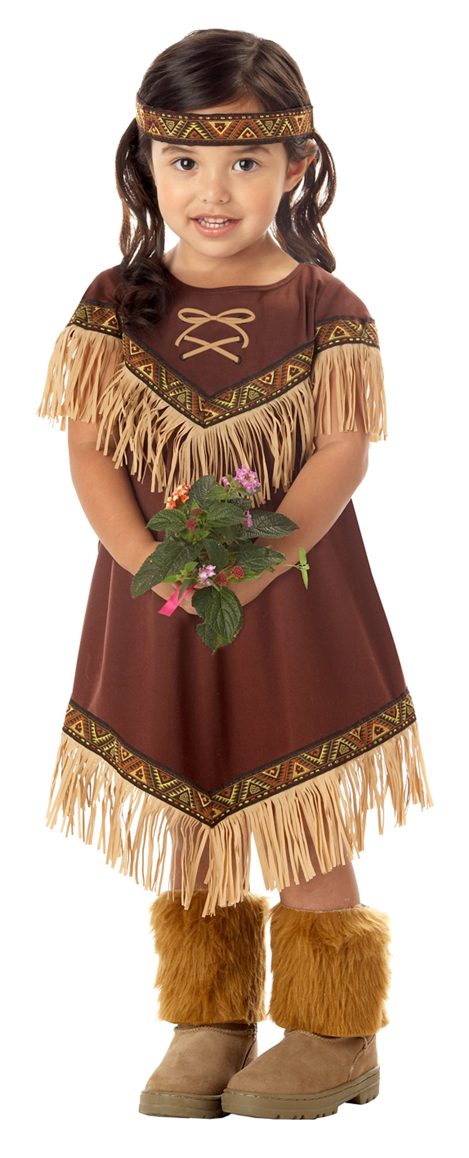 fc7586aa7 Details about CK60 Lil Indian Girls Native Pocahontas Toddler Child Book  Week Party Costume