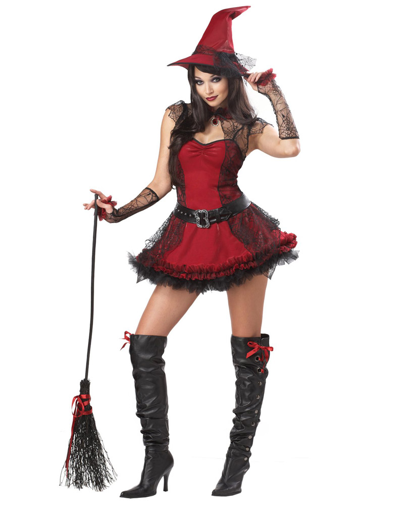 Ladies Spider Web Halloween Tutu Fancy Dress Costume Accessory Black Red NEW