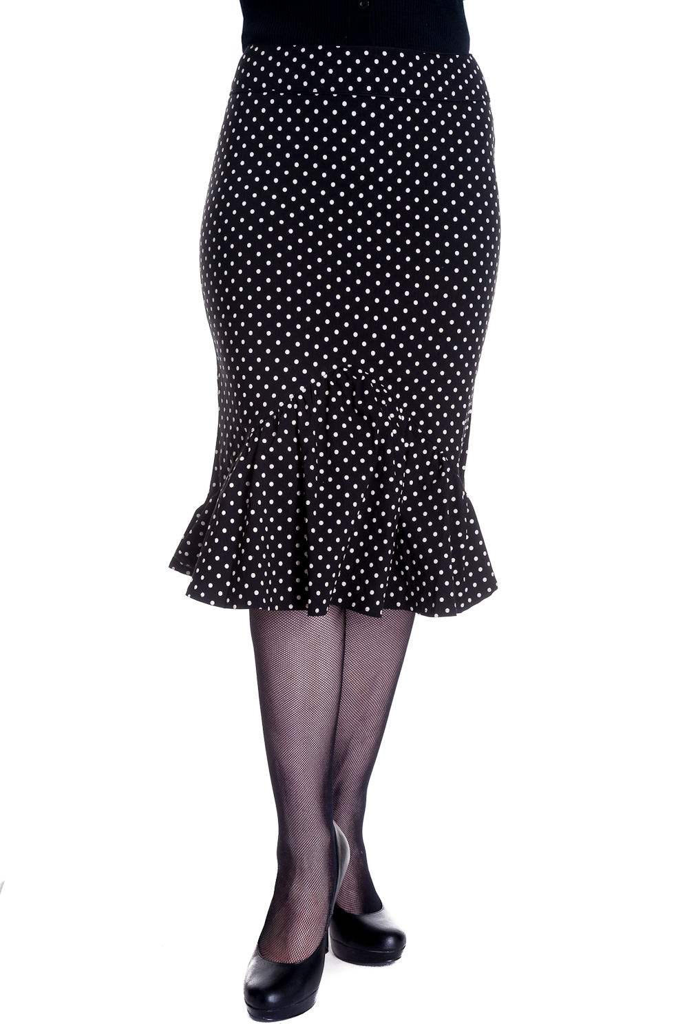 d3047657cb Details about RKP70 Hell Bunny Momo Pencil Skirt Polka Dot Pin Up Office  Wiggle Fishtail