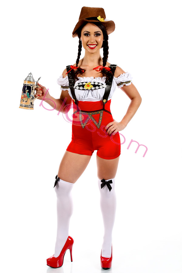 Adult German Beer Maid Woman Mens Oktoberfest Costume Lederhosen Party Outfits