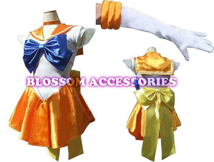 Gloves G48 Sailor Moon Venus Sailormoon Costume Cosplay Uniform Fancy Dress