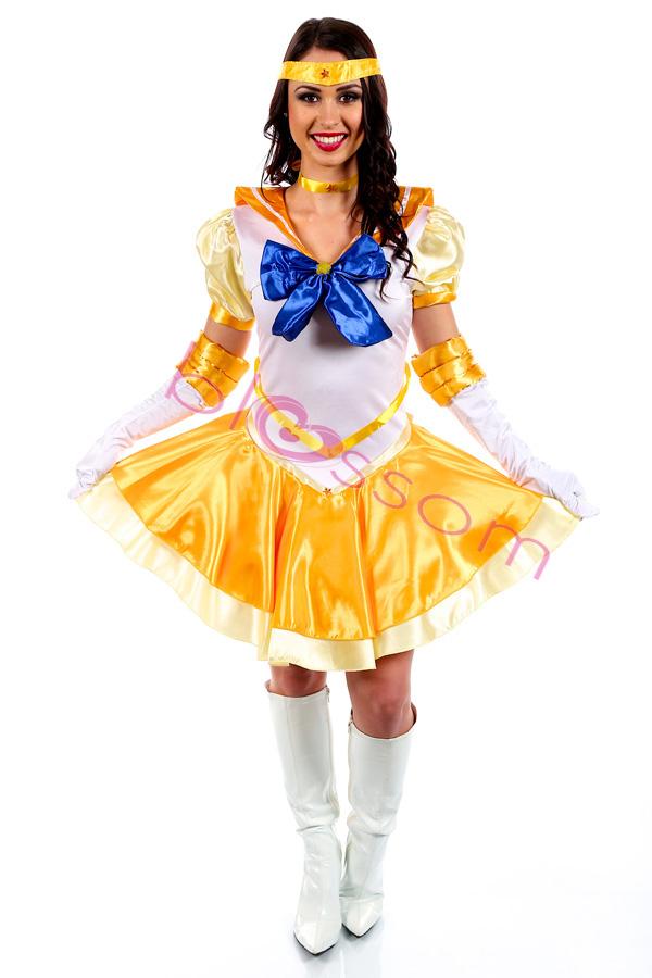 K23 Sailor Moon Mars Mercury Jupiter Venus Costume Cosplay Dress Up Sailormoon