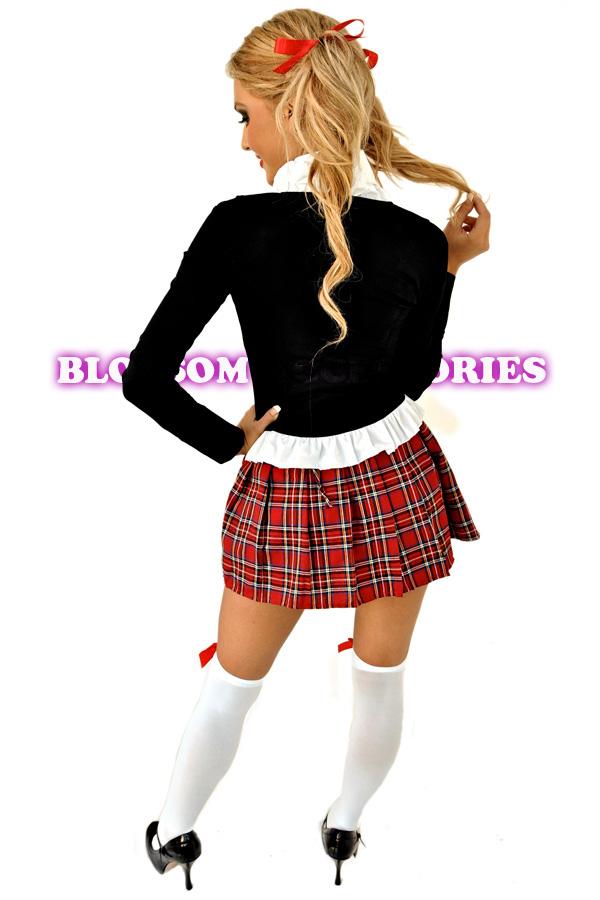 7cb55a6d2 E12 Sexy School Girl Uniform Fancy Dress Costume Outfit | eBay
