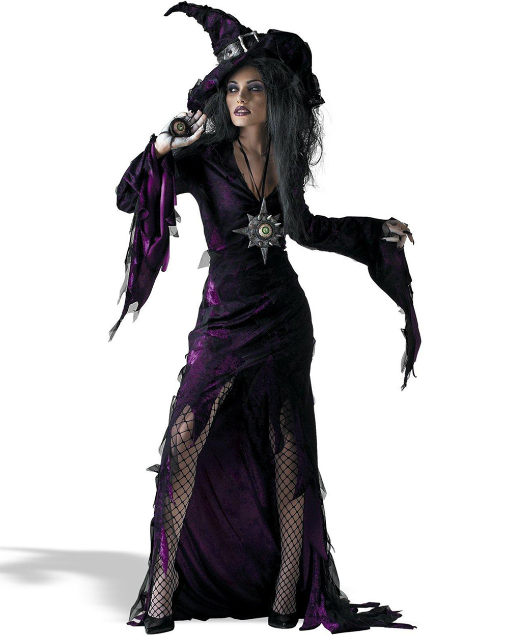 CL426 Sorceress Adult Costume Womens Ladies Wicked Witch Fancy Dress Halloween